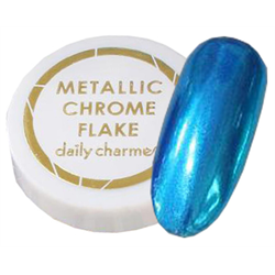 Spa/Nail Art Daily Charme Metallic Chrome Flakes - Fine/Aqua-Blue