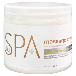 BCL Massage Cream Milk+Honey w/White Chocolate 16oz (SPA54106)