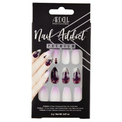 Ardell/Nail Addict Premium Artificial Nail Set-Marble Purple Ombre (62116)