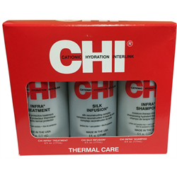 CHI * Deal Infra Trio Kit (Silk Infus 6oz / Sh 6oz / Trt 6oz)