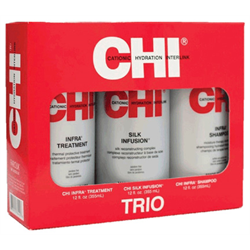 CHI * Deal-Silk Infusion 12oz/Shampoo 12oz/Treatment 12oz Trio
