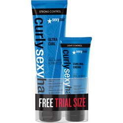 Sexyhair/CSH Ultra Curl Support Styling Creme Gel 5.1oz w/Free Mini Curl Creme