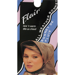 Flair /Rain Bonnet Nice Warm #2225 Black