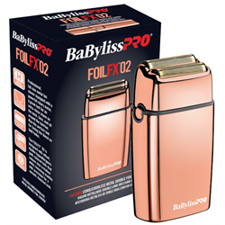 BabylissPro Cord/Cordless Metal Double Foil Shaver ROSEGOLD (FXFS2RG)
