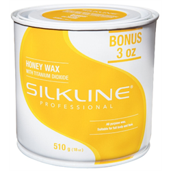 Spa/SilkLine Wax Honey w/Titanium Dioxide 18oz (SL18HONEC)