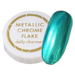 Spa/Nail Art Daily Charme Metallic Chrome Flakes - Fine/Teal-Green