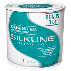 Spa/SilkLine Wax Azulene Soft Wax 18oz (SL18AZULC)