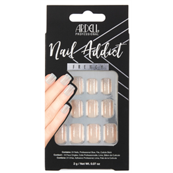 Ardell/Nail Addict French Artificial Nail Set - French Glitter (63861)