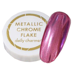 Spa/Nail Art Daily Charme Metallic Chrome Flakes - Fine/Pink