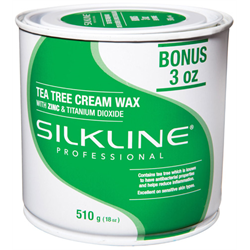 Spa/SilkLine Wax Tea Tree Cream Wax 18oz (SL18TREEC)