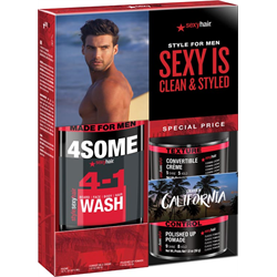 Sexyhair/Deal * Sexy Is Clean & Styled (4Some/Creme/Pomade)