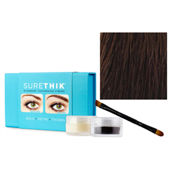 Sure Thik Eyebrow Thickening Fiber Kit - Dark Brown