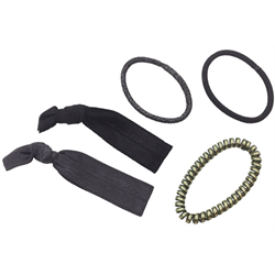 BabylissPro Hair Accessories/Hair Ties 5pc Black/Silver (BESHAEL1UCC)