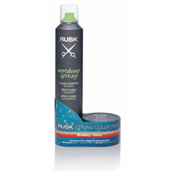 Rusk/Holiday Glow Styling Collection Duo (Working Spray/Wax)