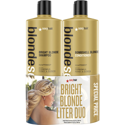 Sexyhair/Deal * Bright Blonde Sh & Cond Liter Duo