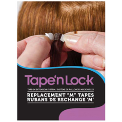 "Hair Affair Extension Tape/ Tape 'n Lock Replacement ""M' Tape (#190008)"