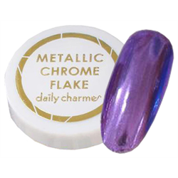 Spa/Nail Art Daily Charme Metallic Chrome Flakes - Fine/Purple
