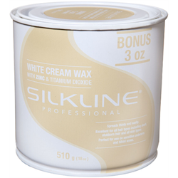 Spa/SilkLine Wax White Cream Wax 18oz (SL18CREMC)