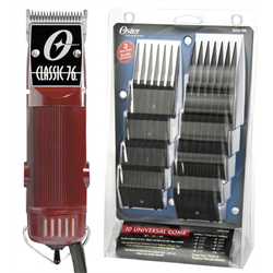 Oster / Clipper * Classic 76 w/ Universal Combs (76076-UNICOMB)