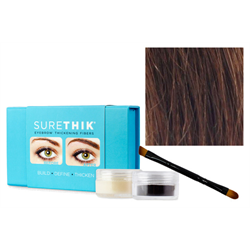 Sure Thik Eyebrow Thickening Fiber Kit - Medium Brown