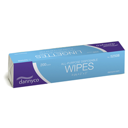 Spa/Dannyco Disposable Wipes- 2 X 2/ 200pc(52508NC)