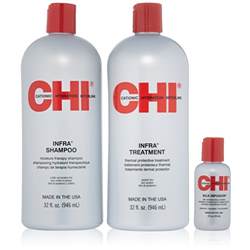 CHI * Deal Infra Shampoo & Treatment Liter Duo w/Silk Infusion 2oz