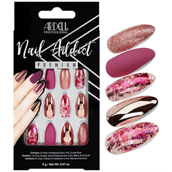 Ardell/Nail Addict Premium Artificial Nail Set-Chrome Pink Foil (75888)