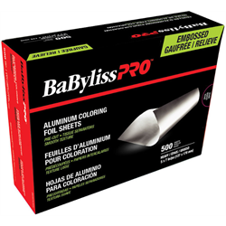 Foil/BabylissPro Embossed w/Fold Light 5 x 7 Silver 500/pk (BES5T57LUCC)