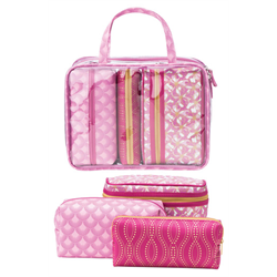 Upper Canada/ Make Up Bag (4 Pieces) Floral PINK