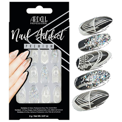 Ardell/Nail Addict Premium Artificial Nail Set-Glass Deco (75885)