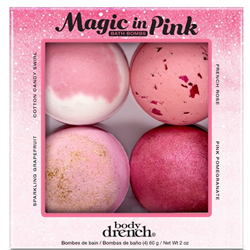 BD/Holiday 2020 Bath Bombs 4pc 'Magic in Pink' (31830)