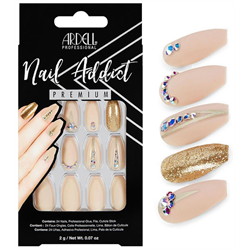 Ardell/Nail Addict Premium Artificial Nail Set-Nude Jeweled (75892)
